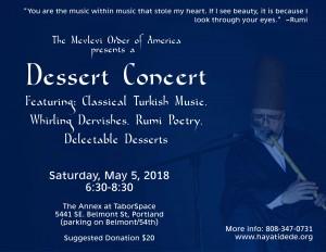 Rumi Dessert Concert 2018